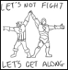 badficwriter: Captain America holding hands with Iron Man-Let's not fight, let's get along (Cap/Iron Man-Let's not fight)