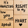fay_e: Text: It's amazing how you can speak right to my heart (speak right to my heart)