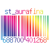 st_aurafina: rainbow barcode with my DW number on it (Dreamwidth: Rainbow Barcode)