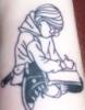 nwhepcat: tattoo on inner forearm of Harriet the Spy illustration (harriet tat) (Default)