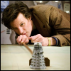 lannamichaels: Matt Smith as Eleven moving a Dalek figure. (matt smith plays with his toys)