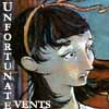 """kivrin: The words """"Unfortunate Events"""" with a picture of Violet Baudelaire (Unfortunate Events)"""
