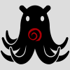 github: shadowy octopus with the head of a robot, emblazoned with the Dreamwidth swirl (dream octobot) (Default)