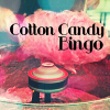 cottoncandybackup: Pink cotton candy being made with Cotton Candy Bingo text (Cotton Candy Bingo)