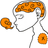 go_dog_go: Stylized drawing of a person with closed eyes. Their brain and breath are visible. (fruit)
