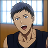 annotated_em: Screencap from KnB: Young Aomine smiling (Aomine - better days)
