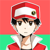 pokemon_champ_red: Red staring ahead with a neutral expression. (Default)
