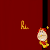 "anaraine: Cogsworth peeking around the edge of the icon, with the text ""hi"". ([disney] hi)"