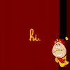 "anaraine: Cogsworth peeking around the edge of the icon, with the text ""hi"". ([disney] hi)"