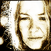 copracat: eowyn, image modified to appear pointilised and monochrome sepia (eowyn)
