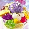 lovepeaceohana: A photo of halo halo, a Filipino dessert made with shaved ice and various delicious toppings. (halo halo)