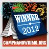 izmeina: A book tent with fireworks (Camp Winwrimo 2012)