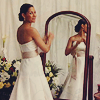 sheepfairy: allison in her wedding dress in front of a mirror (eureka - better times collide with now)