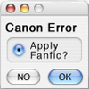 objectivelypink: Canon Error: Apply Fanfic Yes/No? (apply fanfic) (Default)