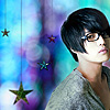 purplelined: jaejoong (jj glasses blue)