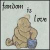 cereta: Classic Pooh blanket, Fandom is love (pooh)