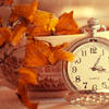 pipisafoat: a pocket watch and some orangey fall leaves (not leigha's time)
