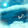 naye: a shot of chihiro flying on haku under the moon (spirited away - dragonflight)
