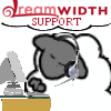 """jumpuphigh: Dreamsheep with headset on sitting in front of a computer.  It says """"Dreamwidth Support"""" on it. (_support)"""