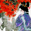 redsnake05: pensive lady in traditional asian art (Sad: Pensive lady)