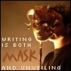 logophile: (Writing Mask)