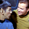 eruthros: Star Trek: TOS, Kirk and Spock gazing soulfully into each other's eyes (ST:TOS - Spock and Kirk LOVE each other)