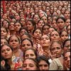 frandroid: large crowd of indian women (south asia)
