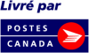 "frandroid: ""Livré par"" followed by the ""Postes Canada"" logo (poste)"