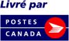 """frandroid: """"Livré par"""" followed by the """"Postes Canada"""" logo (poste)"""
