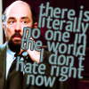 """strina: toby caption """"there is literally no one in the world i don't hate right now"""" (toby - hate)"""