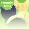 mari4212: kittens hugging, text: huggle time (hug)