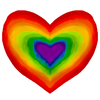 lizcommotion: heart in rainbow colors (rainbow heart)