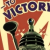 john: British Dr Who Dalek in WWII era poster (To Victory!)