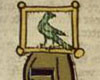 tree_and_leaf: Walter von der Vogelweide's birdcage helmet-topper. (mediaevalism)
