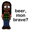 "tree_and_leaf: Cartoon Nelson from Life on Mars: ""Beer, mon brave?"" (beer mon brave?)"
