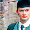 tree_and_leaf: David Tennant in Edwardian suit, Oxford MA gown and mortar board. (academic doctor)