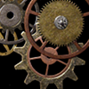 deadislepodfic: precious metal gears and wheels glint against black background (Default)