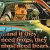 matociquala: (muppetology need bears fozzie & kermit)