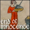jenett: Image from an april fool's fake manuscript: a woman carrying a unicorn's head (end of innocence)