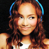 talibusorabat: Crystal Kay wears blue headphones and looks mischievous (Music: Crystal Kay mischief)