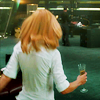 muccamukk: Pepper skips off with a glass of champaigne. (Avengers: Drink in My Hand)