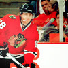 letsgofriday: Patrick Kane beside the boards (hawks: patrick kane)