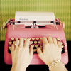 blackinkedwords: ([ misc ] pink typewriter)