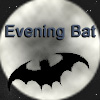 evening_bat: Bat in flight, silhouetted against the moon. (Default)