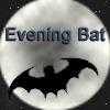 evening_bat: Bat in flight, silhouetted against the moon. (The evening bat seeks fannish nourishmen) (Default)