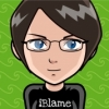 "nightgigjo: a manga version of myself, wearing a t-shirt that says ""iBlame"". (feminist, blamer, mangame)"