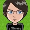 """nightgigjo: a manga version of myself, wearing a t-shirt that says """"iBlame"""". (mangame, blamer, feminist)"""