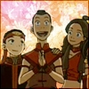 red_eft: Sokka claps his hand in glee at the prospect of shopping. (Sokka is excited!)