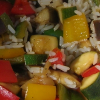zing_och: close-up of cooked vegetables with rice (veggies)