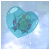 existence: tentomon in a heart shaped bubble: digimon (and all you need is love)